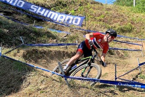 Fikk ut potensialet. Martin Siggerud fra Soon CK syklet inn til en flott 10. plass under VM terrengsykling rundbane i Canada sist uke.