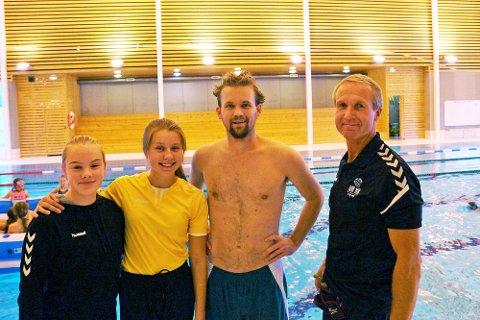 Teamet som gjorde aktivitetskolen mulig. Fra venstre: Ingvild Fjeldså Brynlund, Amine Blåhella, Vegard Baann og Erling Thorsen.