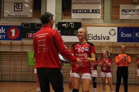"""God start. Den tidligere VHK-spilleren Silje Vedvik har fått en """"flying"""" start på Kongsvinger. I helgen ble hun kåret til lagets beste spiller i to av de tre kampene i forbindelse med kvalifisering til Bringserien."""