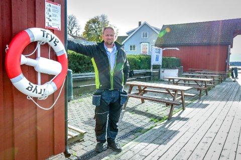 Havnesjef Roger Finstad kunne gjerne tenke seg at det nye kontoret bygges her ved gjestehavna i Son.