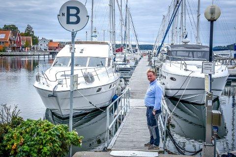 IKKE AKTUELT: Havnesjef Roger Finstad mener utfordringene med å ha en slik konsert i Son hadde blitt for store.