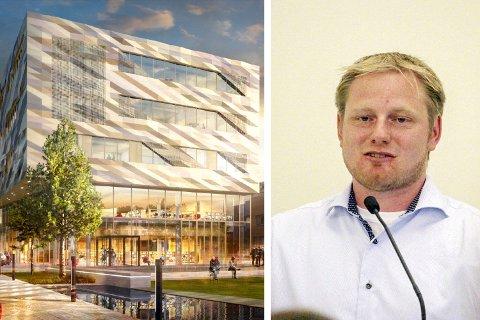 KRITISK: Kenneth Lien Steen (Frp) fremmet mandag kveld forslag om å utsette byggingen av det nye kulturkvartalet.