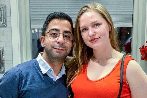 Takin Kroop (28) og Ida Hogstad (23) håper de får giftet seg neste år, etter at den største dagen i livene deres måtte utsettes.