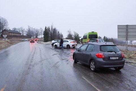 Snø og sludd kan skape utfordringer torsdag og fredag. Bildet er tatt forrige vinter.
