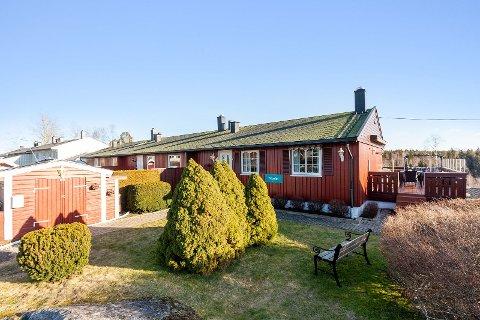 ENDELEILIGHET: Denne rekkehusleiligheten er den eneste boligen i hele Vestby som ble solgt etter den første helgen hvor Norge var i unntakstilstand.