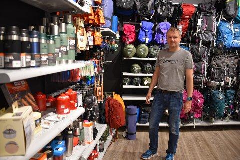 NYFRELSTE: Jørn-Erik Nøkleberg ved  Sport 1 merker at mange har oppdaget friluftsliv denne våren.