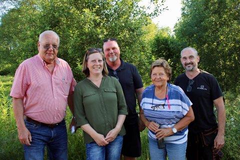 Det nye styret i Berg vel består av (f.v) Stig Eyde, Berit Nordskog, Tommy Nærkland, Eva Sandberg og Salis Kesertzi.