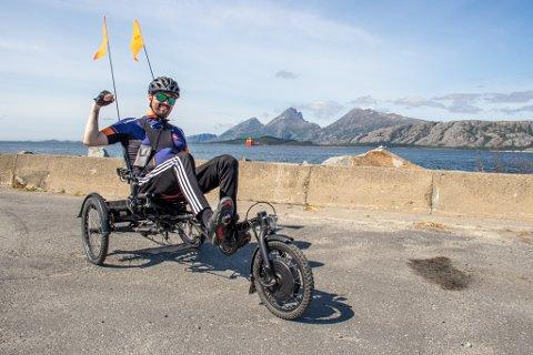 POENG: Rune har dratt på sykkeltur omtrent hver dag siden Tour de HALD startet. Han føler at han har fått livet sitt tilbake.