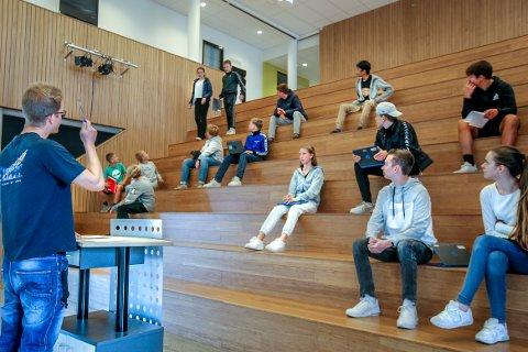 VIKTIG FORUM: Denne uken var elevrådsrepresentanter fra 15 klasser på Vestby ungdomsskole samlet til elevråd.