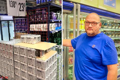STRENGT: Det er mange regler å ta hensyn til hvis man skal selge alkohol. Det fikk butikksjef Anders Thømt nylig oppleve.