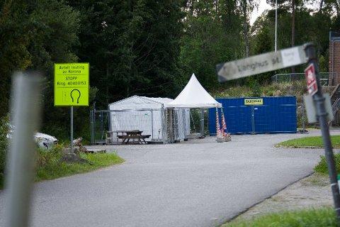 TESTSENTER: Testsenteret på Langhus kan ta imot opptil 250 innbyggere i Nordre Follo daglig.