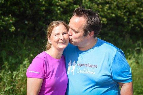 SAMMEN OM DET: Kristin Pettersen og Roger Evensen har de siste månedene oppdaget en lidenskap for løping - og hverandre.
