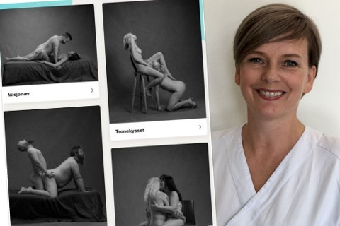 Tone Størseth Moksnes (47) jobber på St. Olavs hospital og har bidratt inn i NRKs sexguide.