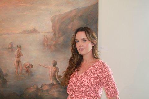 NYGIFT: Kaja Norum (32) giftet seg på Røed Gård i helgen. Ut juli har hun også en miniutstilling på Galleri Røed.