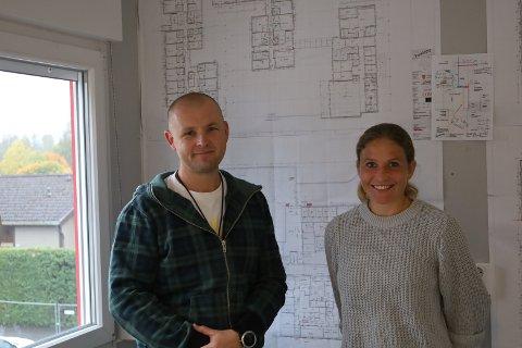 MIDTVEIS: Siden kontrakten ble signert i desember 2020 og fram til september 2021 har mye skjedd med prosjektet på Solhøy.