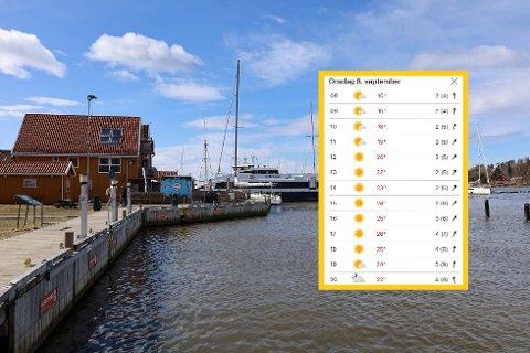 Høsten er på vei, men onsdag blir det både solskinn og sommerlige temperaturer.