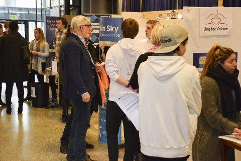 Presenterte seg: Rundt 20 ungdomsbedrifter viste seg fram i Forum på SVGS tirsdag.