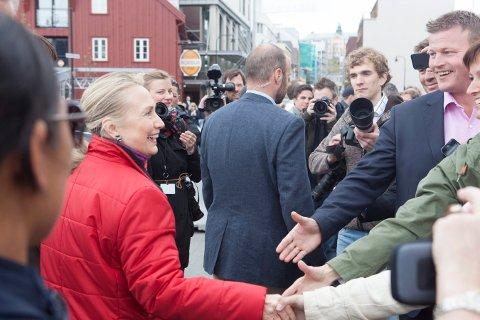 KOMPENSERER: USAs utenriksminister og presidentkandidat Hillary Clinton er introvert, men er flink til å kompensere. Her i Tromsø i 2012.