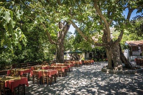 KLART FOR KVELDEN: Thassos er mer enn bare strandliv. Ikke glem øyas intime og historiske innlandsbyer, der restaurantene blir fulle av liv og musikk etter mørkets frembrudd.
