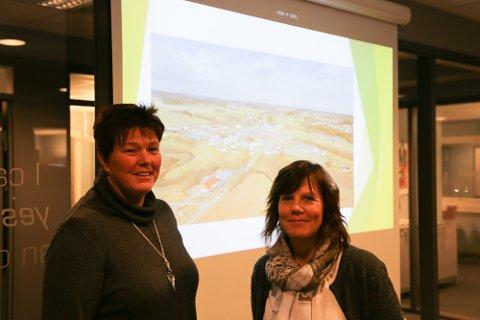 Heidi Gunhildstad Næss (t.v.) og Unn Kjærran er partnere i Atenti, som har flyttet inn i totalrenoverte lokaler.