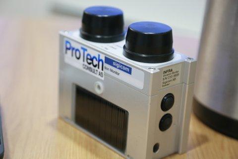 Denne sensitive rystelsesmåleren sørger for å dokumentere rystelsene ved spreningsarbeid.