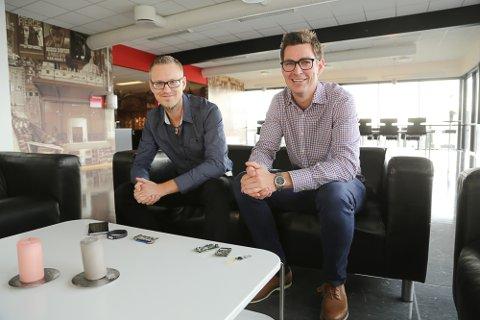 Stian Halseth (t.v.) og Morten Klausen i ITX Norge omsatte for 6,2 millioner kroner i fjor. I år vokser de ytterligere.