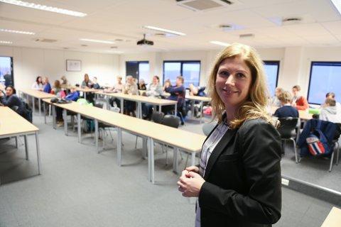 GJØR GREP: Markedssjef ved Pilot Flight Academy, Annichen Haug Sjøblom, satser på å ha en lightversjon av Newton-rommet klart i april.