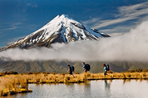 NEW ZEALAND: Mount Taranaki er hellig for maoriene, urbefolkningen på New Zealand.