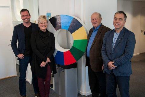 JURYEN: Marius Holm, Kristin Halvorsen, Odd Einar Dørum og Helge Eide utgjør juryen for årets tildeling. Foto: ZERO/Hans Starheim