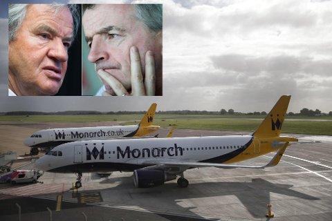 KONK: Kjos og O'Leary kan plukke opp ansatte i fallerte Monarch. Foto: Scanpix