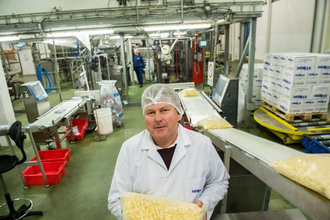 VOKSER OG VOKSER: Trond Manvik er daglig leder i familiebedriften Norrek Dypfrys AS, med hovedkontor i Brunlanes og fabrikk på Hegdal. Selskapet har gjort det meget bra de siste årene, med en omsetningsøkning på nesten 100 millioner siden 2010.