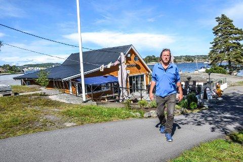 GRANHOLMEN: Kurt Nilsen driver Granholmen camping sammen med samboer Inger Moe.