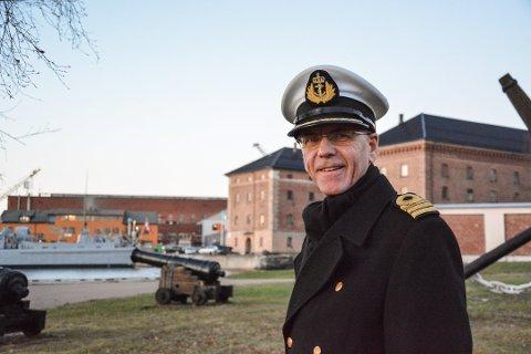 MILITÆR: Truls Sanaker var sjef for Marinemusikken og kommandant på Karljohansvern, men sluttet for å lede Vestfold Festspillene.