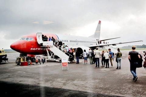 FLYR FRA TORP: Norwegian er et av selskapene som trafikkerer Torp Sandefjord Lufthavn.