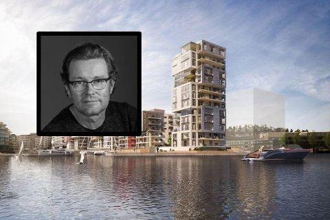 SYNLIG I BYBILDET: Sven Krohn er daglig leder i Spir arkitekter AS, som blant annet står bak Signaturen-prosjektet på Kaldnes.