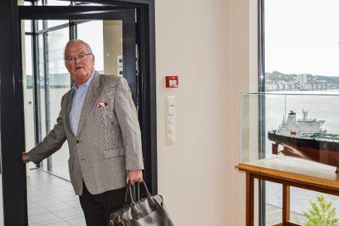 Nordic American Tankers, der sandefjording Herbjørn Hansson er styreleder og konsernsjef, har mandag falt for tiende dag på New York-børsen. Foto: Jan Roaldset