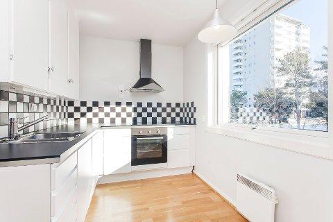 SELVSOLGT: Cesilie Dahl solgte denne leiligheten selv, og er fornøyd med at hun fikk 135.000 kroner over takst.