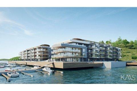 POPULÆRT: Halvparten av leilighetene i første byggetrinn på Solnes brygge i Melsomvik er allerede solgt.