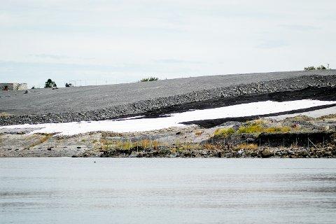 SKAL FRIGJØRES: NOAH dekker til et nytt område på nordenden av øya. Foto: Ulrikke G. Narvesen