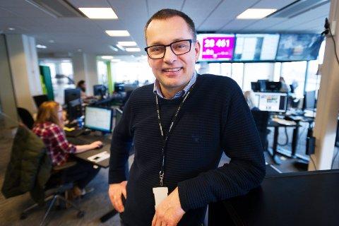 OPPKLAGSVEKST: Alle mediehusene i Vestfold hadde opplagsvekst i fjor, konstaterer Øyvind Bladt Hagen, regiondirektør for Amedias aviser i Vestfold.