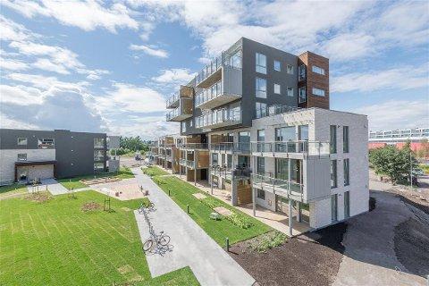 GJENSTÅR: 15 leiligheter står usolgt i C-blokka i prosjektet Kilen Bolig.