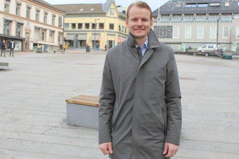 HAR TRO: Nøttlendingen Eirik Engaas fra Teie har flere års erfaring innenfor eiendomsutvikling. Han har tro på at det vil være liv i Tønsberg sentrum i fremtiden, såfremt det skapes nye tilbud som gir den ekstra serviceopplevelsen.