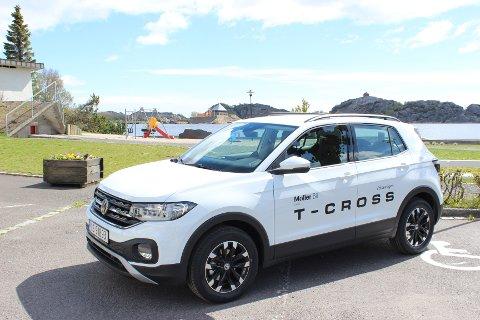 NY SMÅ-SUV: Bygd på samme plattform som Volkswagen Polo, er nye T-Cross merkets minste SUV.