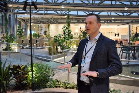 ØNSKER FORTSATT STØTTE: Konferanse- og eventmarkedet er svært vanskelig, og adm. direktør Stian Fuglset ved Oslofjord Convention Center håper på fortsatt drahjelp fra det offentlige i tiden fremover.
