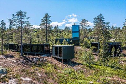 CONTAINERHYTTER: Bildet illustrerer prosjektet Omgi Blefjell som skal ferdigstilles i høst.