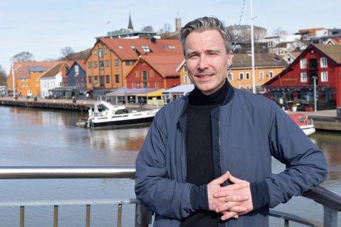 PÅ'N IGJEN: Håvard Løkke i Tønsberg Næringsforening ser frem til å starte opp igjen for alvor etter pandemien.