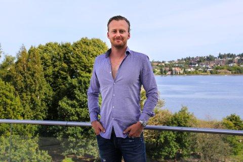 NY VIRKSOMHET: Andreas Bjarøy i Bjarøy Gruppen starter nytt selskap, Sva160 AS. Han forteller at virksomheten blir bodhotell og at det skal ligge i en telemarksby.