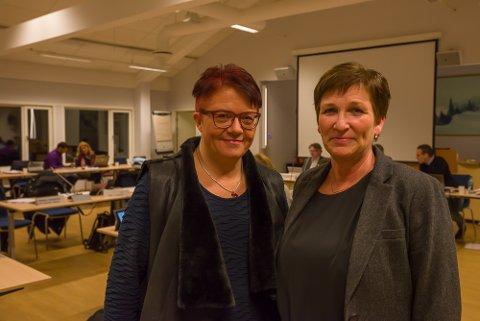 Rita Hirsum Lystad (Ap) og Eva Andersen (H) vil ikke kutte i plassene på Ullerud bofellesskap.