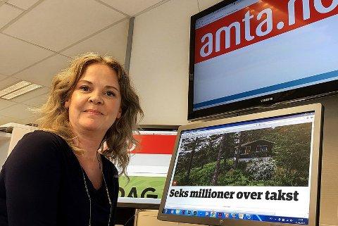 Amtas redaktør Felicia Øystå kan notere seg 2017 som et suksess-år. Stadig flere betaler for nettavisen amta.no.