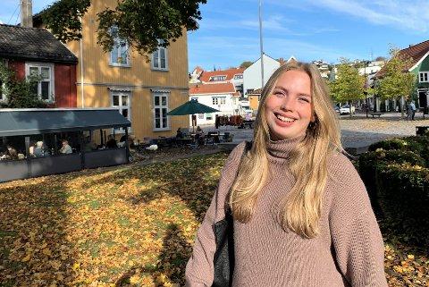 Anine Norén (21) tilbringer denne påsken hjemme i Drøbak.